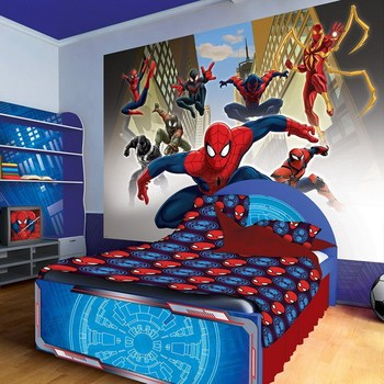 Decorative Removable Cartoon Spiderman Wallpaper Murals For Kids Room   Buy  Removable Spiderman Wall Murals,Spiderman Wall Murals,Wall Murals For Kids  Room ...