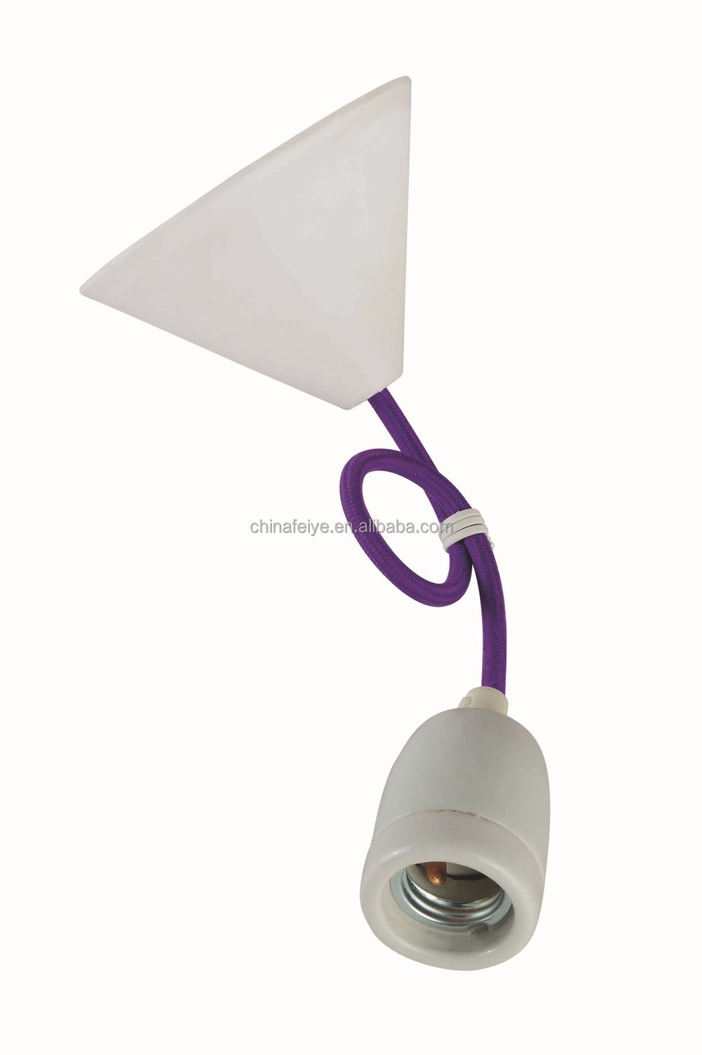 Purplependant lightcolor fabric cordceramic lamp holderplastic purplependant lightcolor fabric cordceramic lamp holderplastic ceiling rose aloadofball Choice Image