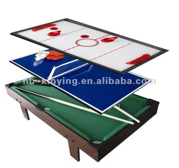 Wooden In Multifunction Game Table Including Pool TableAir - Multifunction pool table