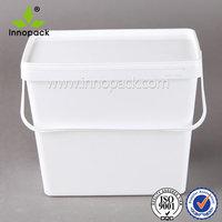 1 Gallon 3Gallon 9L Square Rectanglar Food Grade Icecream Plastic Container with Lid for Food