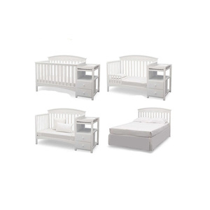 Factory Directly Daycare Equipment For Sale 4 In 1 Wood Baby Convertible Crib
