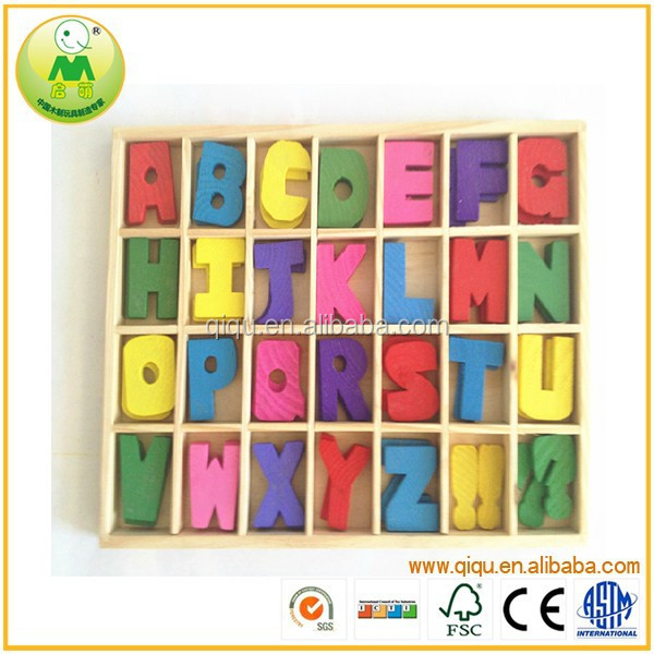 Preschool educational printing colorful wooden alphabet letter <strong>toy</strong>