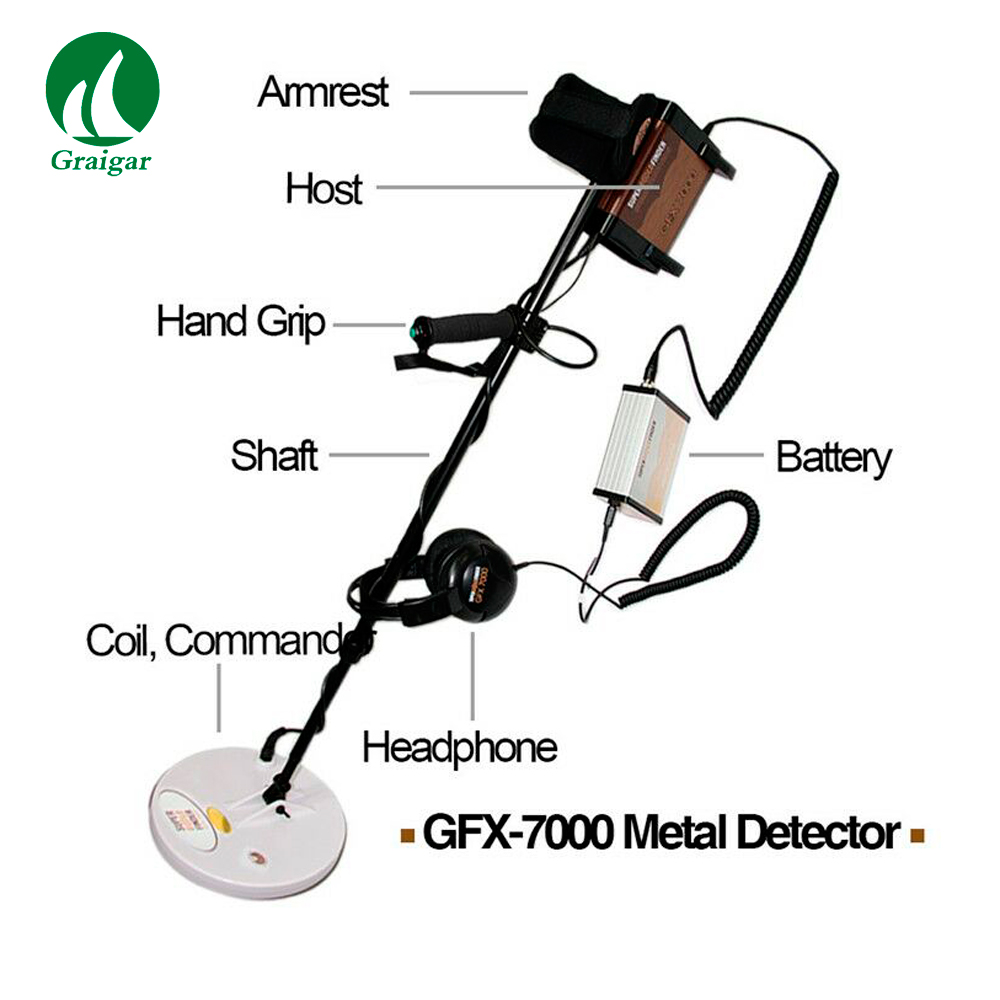GFX7000 Metal Detectors for Treasure Hunt Long Range Deep Gold Detector Mining Finder GFX-7000 Rechargeable Battery