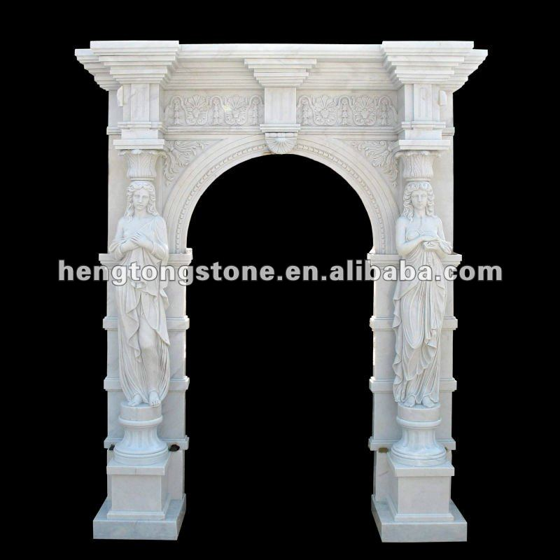 Western Style Marble Statue Arch Pattern Carving