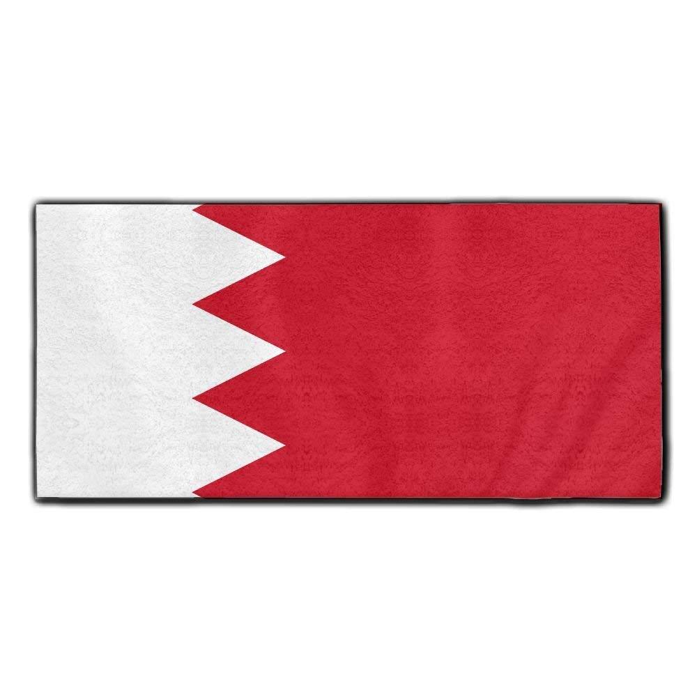ChunLei Bahrain Flag Washcloths Face Towel Hair Care Towel Gym And Spa Towel Kitchen Dish Towel