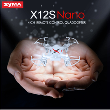 Mini Drones SYMA X12S Pocket Drone 4CH 6 Axis Gyro 360 Eversion Headless Mode Remote Helicopter Toys VS CHEERSON CX-10 CX-10W