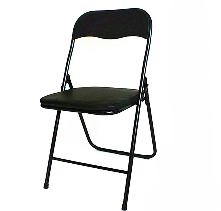 2017 Cheap Home Used Metal Folding Chairs With Leather Top