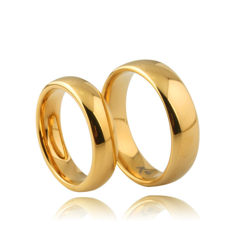 Fashion Modeling Gold Ring Couple Saudi Arabia Gold Wedding Ring ...