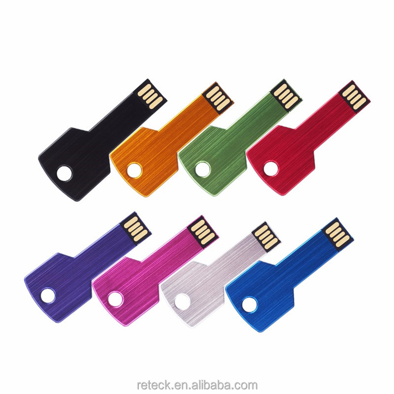 free sample Metal key shape usb with custom logo printing bulk buy from China