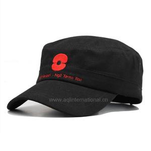 Custom embroidered military style baseball caps for men