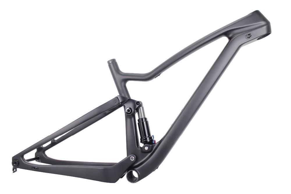 Enduro Bikes 2017 29er Full Suspension Carbon Mountain Bike Frame fs029 XC Cross country Carbon Mtb Frame of 29er