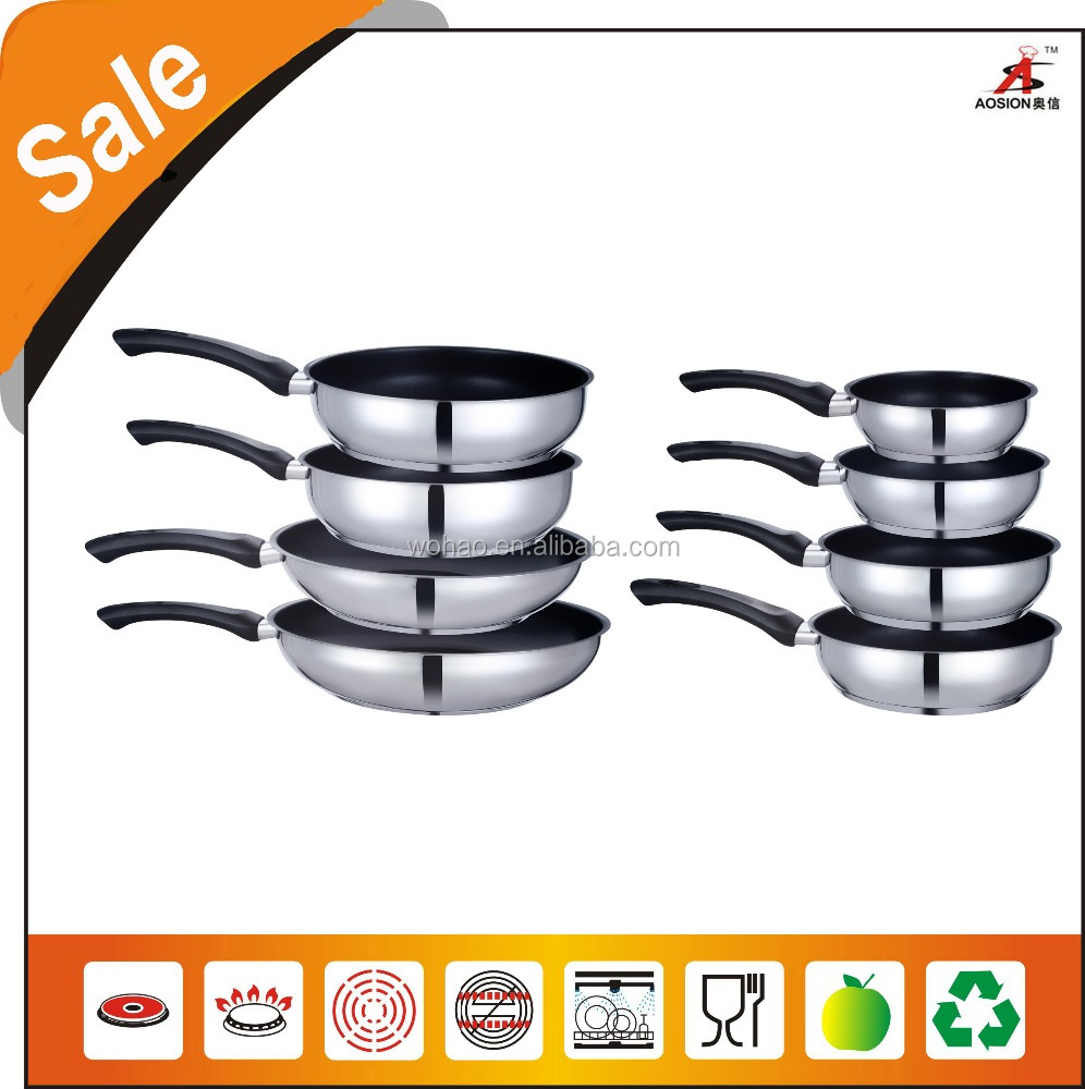 stainless steel non stick fry pans