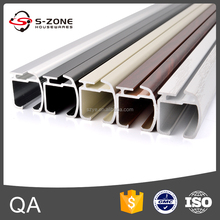 Aluminium accessories 5-color telescopic railing ceiling curtain rod and rail