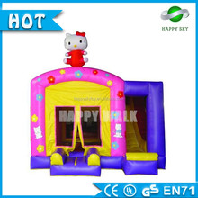 Hello kitty or customized style airflow bouncer, inflatable bouncer for kids