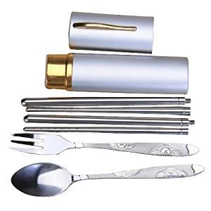 Tableware - TOOGOO(R)Stainless Steel Fork Spoon Chopsticks Set
