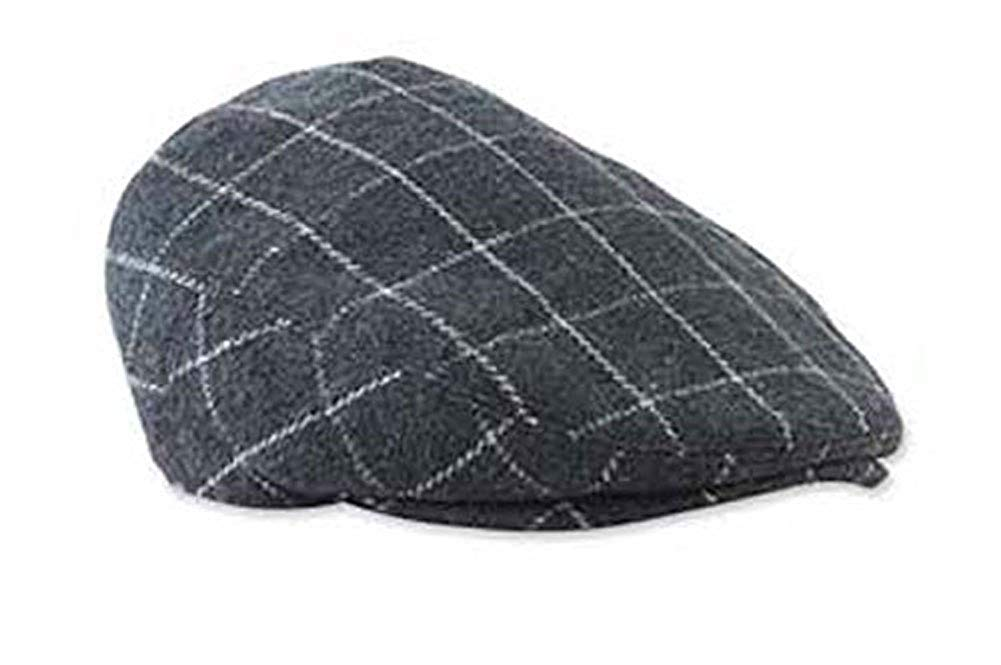 Get Quotations · Baby Boys Dark Gray Plaid Golfers Hat (0-12 months) d32f72c205c