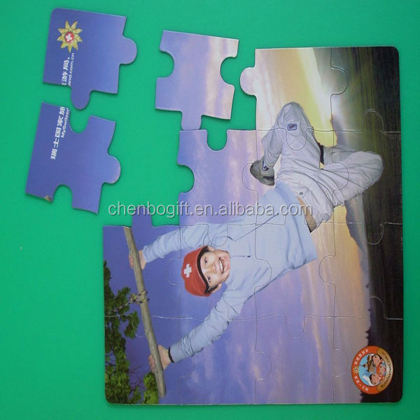 custom made paper printed fridge magnet puzzle toy