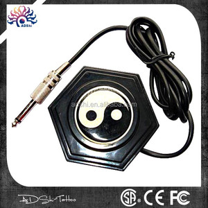 Traditional 360 yingyang round foot pedal, 1.5m cord and 6.3mm plug, tattoo footswitch