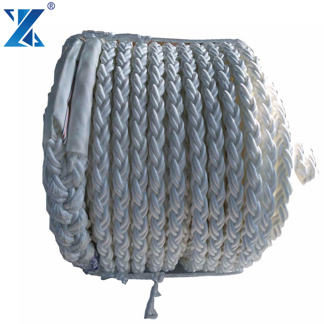 30mm 8Strand White Polyester Anchor Mooring Rope Dock Line Boat Priced per Meter
