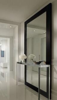 Baru Ruang Makan Besar Dinding Cermin Untuk