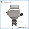 Electronic control ball valve for water, sewage and fiber control
