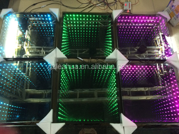 Party 3d Rgb 3in1 Led Disco Mirror Dance Light /50*50cm 3d Time ...