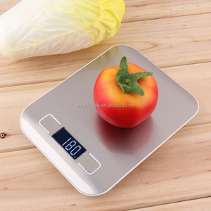 5kg/1g Electronic Digital Weighing Scale Stainless Steel Kitchen Scale Postal Scales Silver Color