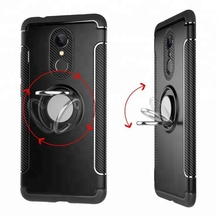 Mobiele telefoon accessoires ring houder bumper case cover kickstand hybrid phone case <span class=keywords><strong>voor</strong></span> <span class=keywords><strong>Xiaomi</strong></span> Redmi 5