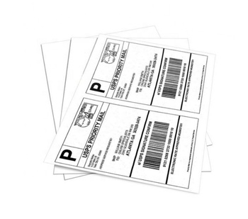 "Laser Printer 8.5""x5.5"" Half Sheet A4 Letter Adhesive Labels Inkjet Sticker Paper Shipping Label"