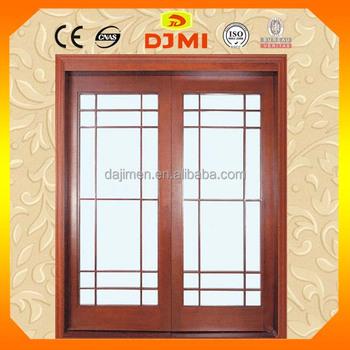 Wood Double Frame Sliding Glass Doors Ht 02 Buy Interior Wooden