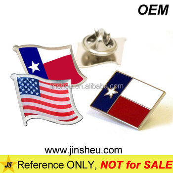 China Manufacturer Custom Promotion Cheap Metal Texas Flag Lapel Pin
