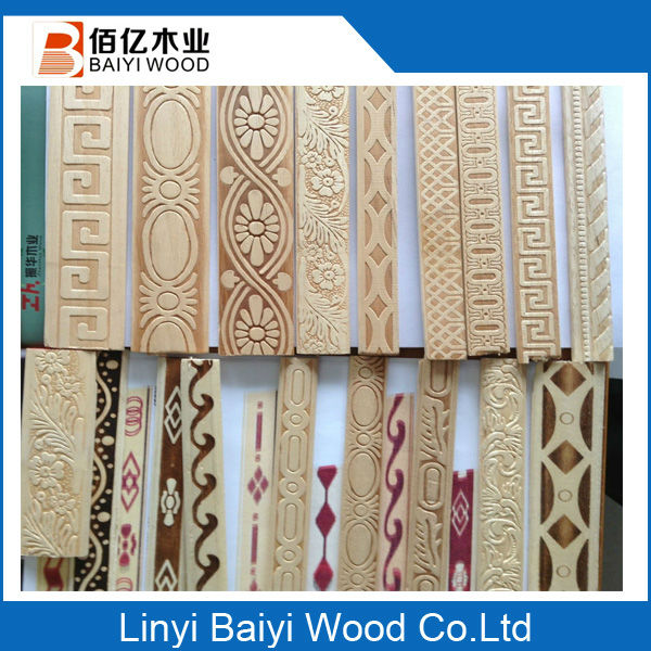 Primer Iterior Door Trim Decorative Corner Wood Molding