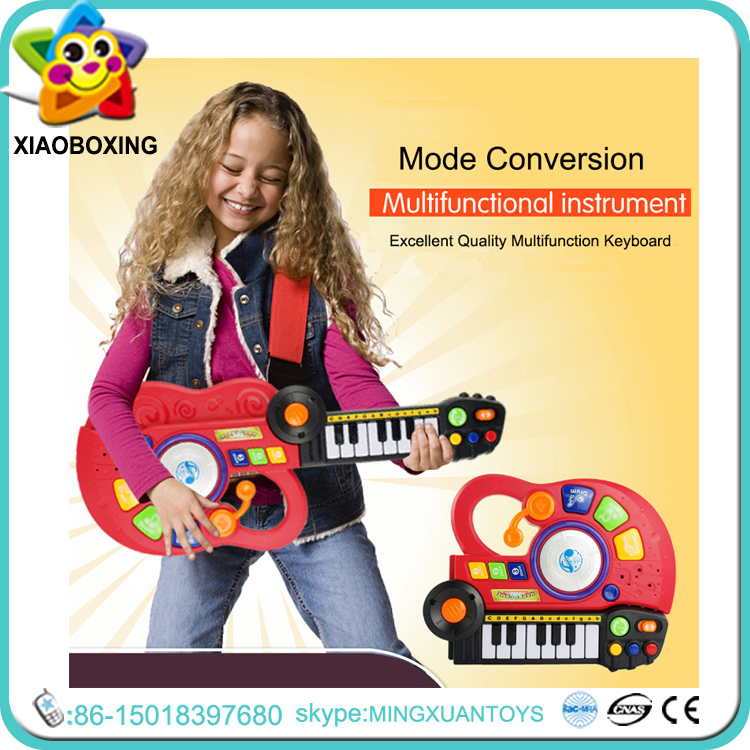 2016 Hot-selling Musical Instrument 2-in-1 Electronic Organ & Toy Guitar