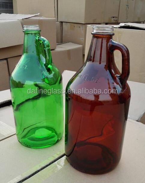 32 Oz 64oz Amber Beer Glass Growler Amber 1 Gallon Glass