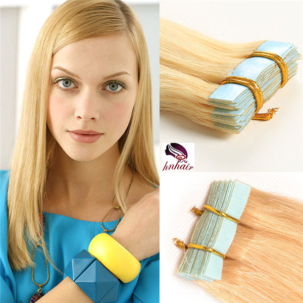 oft And Silky Straight Human Hair 100% Indian straight Tape Human Hair Extensions #27/613 mixed color