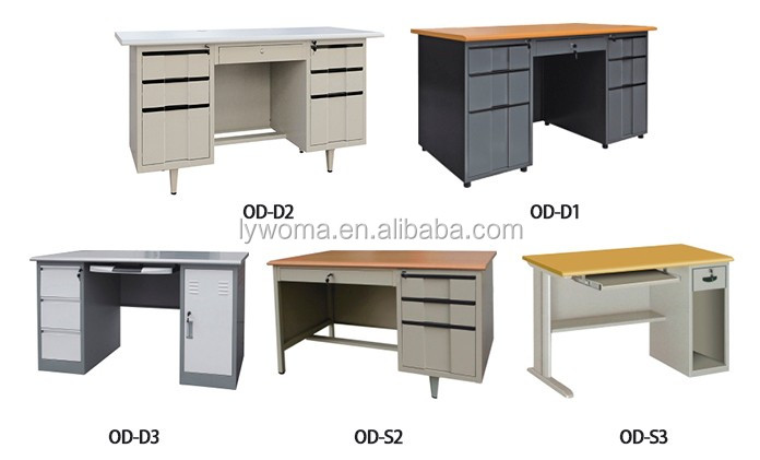Factory Direct Sale Double Sided Steel Office Desk With Drawers , Simple  Computer Office Table