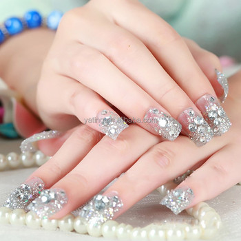 3d nail art 24pcs artificial nail with fashion bowpearl and 3d nail art 24pcs artificial nail with fashion bowpearl and glitter 3d japan nail prinsesfo Image collections