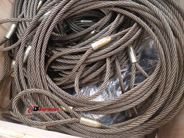 Flemish Spliced Steel Wire Rope Sling Both End Soft Eyes - Buy ...