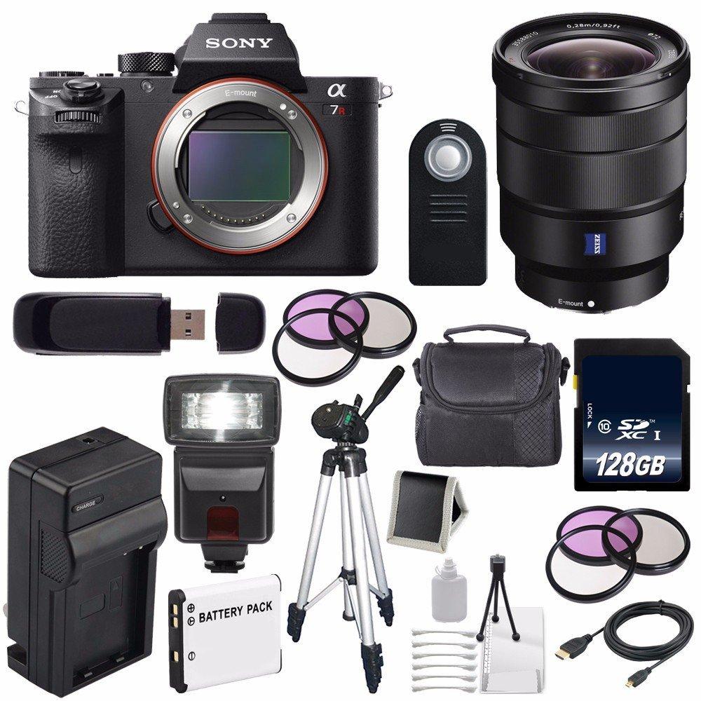 Sony Alpha a7R II Mirrorless Digital Camera (International Model no Warranty) + Sony Vario-Tessar T FE 16-35mm f/4 ZA OSS Lens + 49mm 3 Piece Filter Kit + 72mm 3 Piece Filter Kit 6AVE Bundle 44