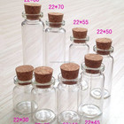 3ml 5ml 7ml 8ml 10ml clear glass wishing/small drift bottle/vials with cork for gift