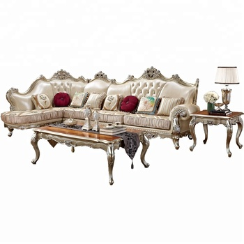 American Style Solid Wood Living Room Classic Sectional Sofa Set ...