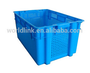 50kgs Heavy Duty Mesh Plastic Fruit Packing Crate