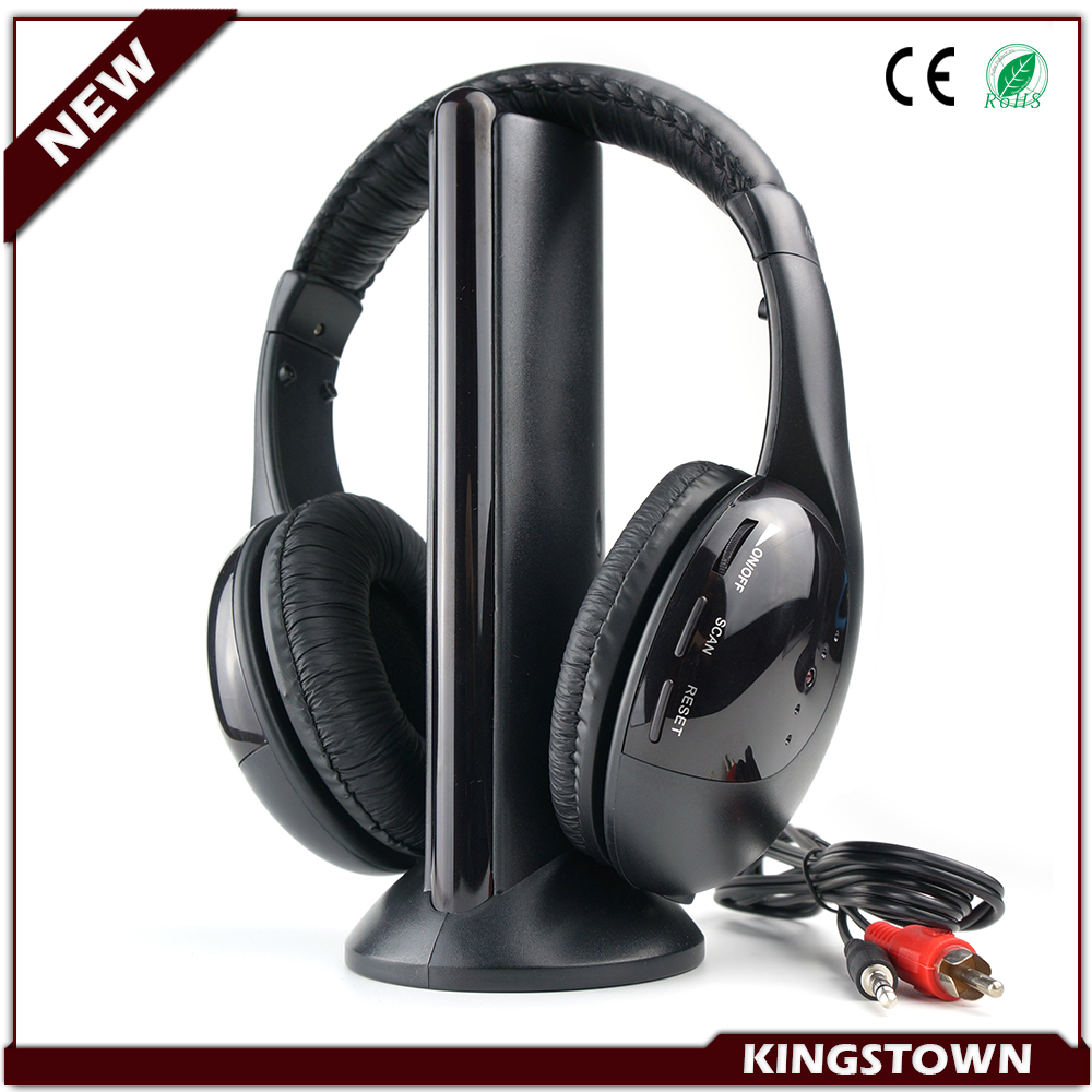 3 to 4 Channel Silent Disco Use Wireless Headphone Stereo RF Wireless Headset