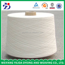 Good quality for recycled polyester spun yarn T/C 65/35 23s Raw white