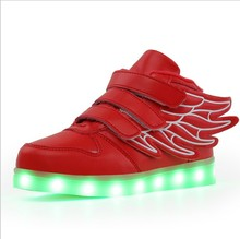 도매 어린이 usb charging 컬러 풀 한 luminous 화 children's shoes led casual shoes
