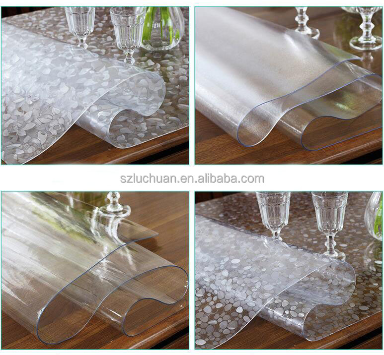Anti-oil Stain PVC Tablecloth Transparent Plastic Table Cover