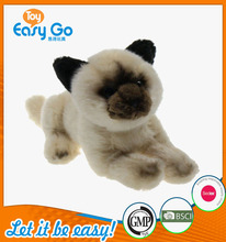 Customized 2016 new type of no hair loss simulation soft brown dog toys