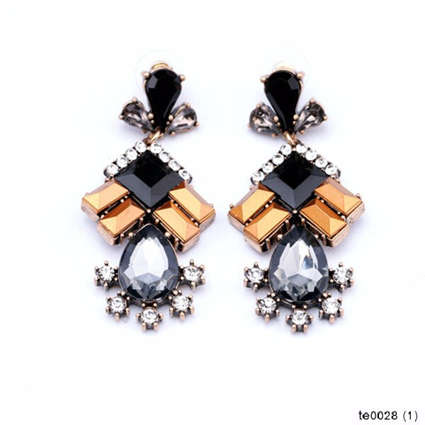 Old Fashion Statement Chunky Crystal Beads Crew Earring, Alibaba Express Wholesale Earrings Jewelry