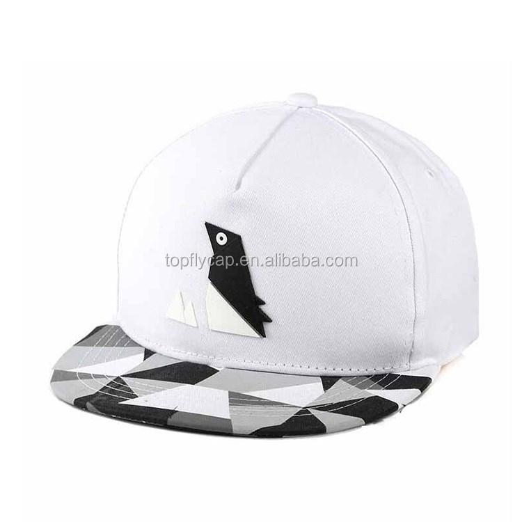 74941fcd0 high quality Rubber bird shape patch snapback caps flora custom hip ...