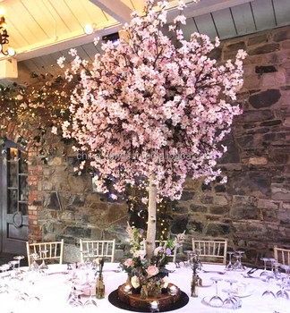 170510114 Decorative Centerpieces Small Table Wedding Blossom Trees White Artificial Cherry Flowers 4ft